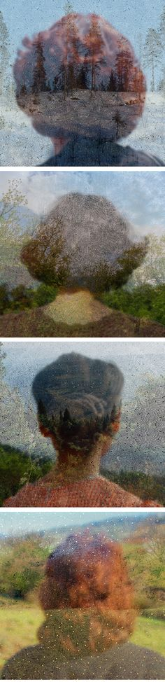 These beautifully layered photographs are from a series titled Inside the View by British artist Helen Sear