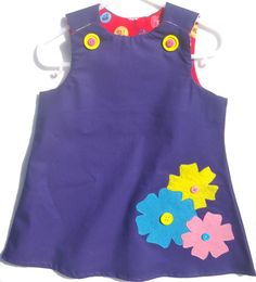 Baby Girl Dress 3 Flowers by LoopsyBaby on Etsy, $22.00