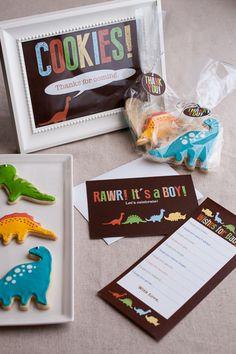 RAWR! It's a dinosaur themed baby shower! {Sweet Treats: a baking blog}