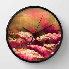 """""""It's a Rose Colored Life 2"""" by Ebi Emporium on @society6 Decorative Wall Clock, Modern Home Decor Colorful Fine Art Abstract Autumn Fall Painting Burgundy Crimson Red Olive Green Fuchsia Magenta Floral Flowers Garden Brushstrokes #autumn #autumndecor #colorful #red #magenta #olive #floral #flowers #nature #abstract #fineart #art #painting #falldecor #fall #artclock #clock #time #wallclock #walldecor #homedecor #dorm #Society6 #EbiEmporium"""