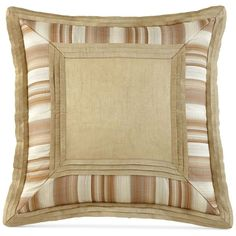 "Waterford Walton 20"" Square Decorative Pillow ($80) ❤ liked on Polyvore featuring home, home decor, throw pillows, side stripe, stripe throw pillows, waterford, striped throw pillows and square throw pillows"