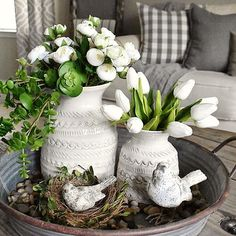 Spring Tray Styling Decor