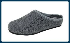 Damen Warme Hausschuhe Weiche Gridding Plüsch Futter Fleece Clog Innenraum Hausschuhe Blau 41 ICEGREY XShaNrcpY