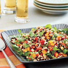 Black-eyed peas on New Years day are essential for any southerner. Try this version of a Lucky Black-Eyed Pea Salad from Southern Living.