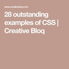 From bespoke agency sites to online shops, you'll find tons of web design inspiration in these great examples of CSS. Web Design Tips, Design Ideas, Adobe Muse, Html Css, Website Design Inspiration, Web Development, Coding, Creative, Computers