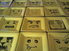 Lego Birthday party Lego plates!