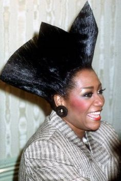 Patti LaBelle's fan hair of the 80's