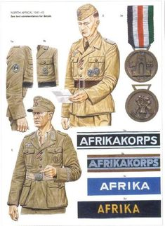 Ww2 Uniforms, German Uniforms, German Soldiers Ww2, German Army, Military Ranks, Military Art, Luftwaffe, Afrika Corps, North African Campaign