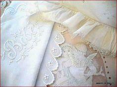 Linge ancien - Passion de Blanc - Broderie ancienne - Antique & Vintage French linen
