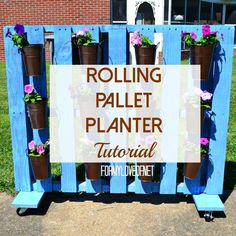 Rolling Pallet Planter Tutorial
