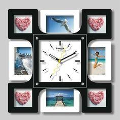 gz048 CALIENTE 1pcs Rural Moda Mute Europea artístico de lujo contratados Sitting Room Personalidad Photo Frame decoración del hogar del reloj de pared(China (Mainland))