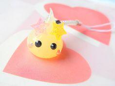 Fairy Kei Pastel Star Hoppe Chan, Tamagotchi Charm, Kawaii Phone Charm, Cute Dust Plug, Nintendo 3DS, PS Vita, Pastel Phone Strap, Mahou Kei by CreaBia on Etsy