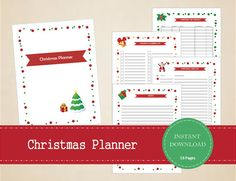 Printable Christmas Planner Kit with 19 pages by MBucherConsulting
