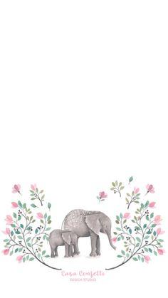 Cute Backgrounds, Cute Wallpapers, Wallpaper Backgrounds, Elephant Love, Elephant Art, Elephant Wallpaper, Simple Iphone Wallpaper, Homescreen Wallpaper, Elephant Tattoos