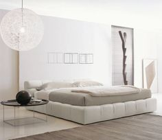Contemporary upholstered double bed by Patricia Urquiola - TUFTY-BED - B&B Italia