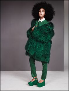 Ruven Afanador for EW- Love! Green is the new black.