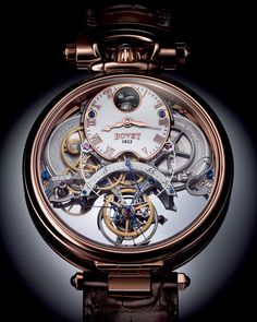 Bovet 1822 Swiss handcrafted timepiece Fleurier Grandes Complications Braveheart® with Flying Tourbillon with Reversed Hand-Fitting Six Times Patented Fossil Watches For Men, Fine Watches, Cool Watches, Rolex Watches, Mens Sport Watches, Luxury Watches For Men, Watches Photography, High End Watches, Running Watch