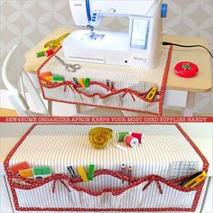 Sewing Machine Organizer Apron: Fabric Depot | Sew4Home