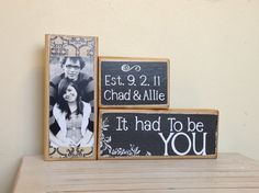 Personalized wedding gift/decoration with quote by FayesAttic11, $24.00
