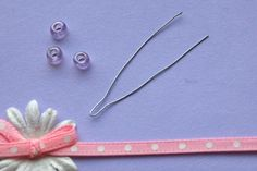 How to add beads to a knitting project without a beading needle, using a twist-tie
