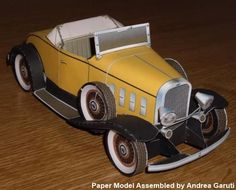 PAPERMAU: Chevrolet Confederate Deluxe Sports Roadster Paper Modelby Toshimasa Mitsutake - via Canon