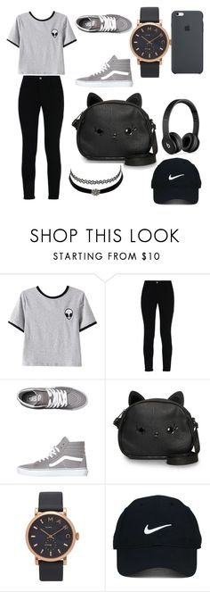 """""""Tomboyish Girl💯"""" by oumousakho ❤ liked on Polyvore featuring Chicnova Fashion, STELLA McCARTNEY, Vans, Loungefly, Charlotte Russe, Marc Jacobs, Beats by Dr. Dre and Nike Golf"""