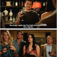 love Cougar Town (& wine)