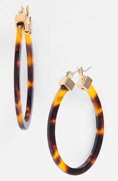 Lauren Ralph Lauren Large Oval Hoop Earrings available at #Nordstrom