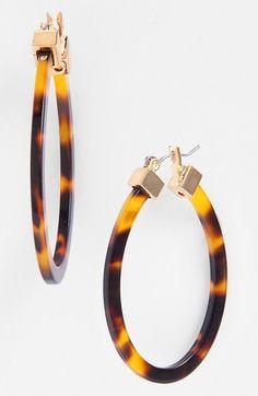 Lauren Ralph Lauren Large Oval Hoop Earrings available at #Nordstrom