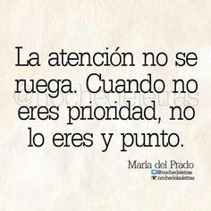 La atención no se ruega