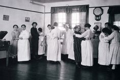 By the end of the 1920s, social contact like dancing was critical to psychiatric care.  To avoid outbursts among more seriously ill patients, only same sex partners were allowed to dance with each other, as seen in this 1920s photograph from the New York State Asylum.