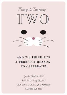 Prrrfect Kitten Party Invitation by HoneycombDesg on Etsy… Kids Birthday Themes, Kids Party Themes, First Birthday Parties, Party Ideas, Kitty Party, Little Girl Birthday, Cat Birthday, Fete Emma, Puppy Party