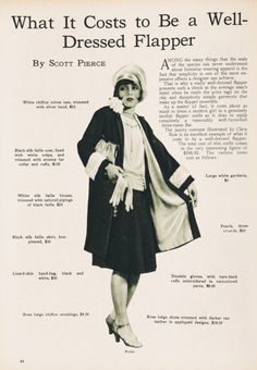 What it costs to be a well-dressed flapper