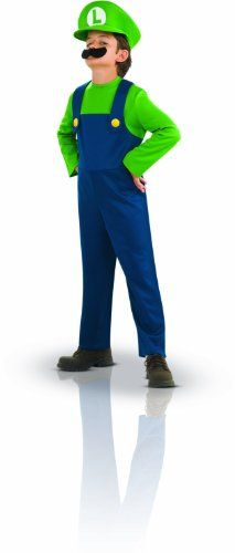 Super Mario Brothers, Luigi Costume, Small *** Additional details @…