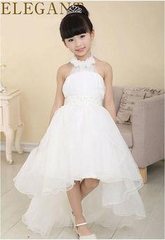2015 flower girl dress for wedding party new style halter princess dresses children brand clothing kids formal clothes