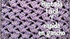(2) puntos crochet para mantitas - YouTube