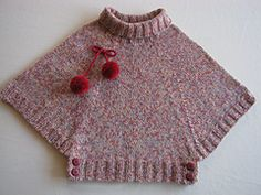 Ravelry: Poncho pattern by Phildar Design Team Ravelry photo by gitute. Pattern Poncho by Phildar Design Team., This is knit, but its basiThis is knit, but its basically an extended raglan yoke done in the round. Easy to crochet I think. Baby Knitting Patterns, Knitting For Kids, Crochet For Kids, Free Knitting, Knitting Projects, Crochet Baby, Poncho Patterns, Easy Crochet, Baby Pullover