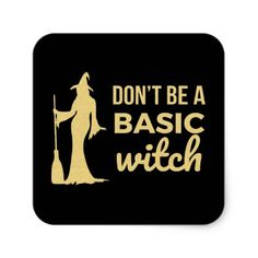 The Basic Witch Square Sticker - Halloween happyhalloween festival party holiday