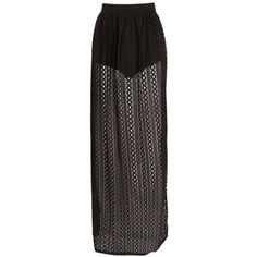Boohoo Night Millie Festival Crochet Lace Maxi Skirt ($26) ❤ liked on Polyvore featuring skirts, bottoms, midi skirt, mini skirt, mini maxi skirt, pin skirt and long skirts