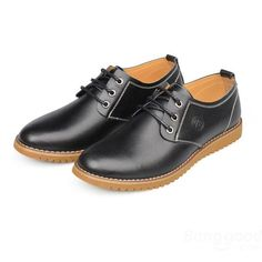 Big Size New Autumn Men Casual Flat Breathable Leather Shoes - US$23.28