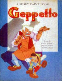Pinocchio-Geppetto Story Paint Book