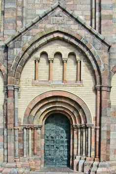 Door to the Ribe Cathedral in Ribe, Denmark.