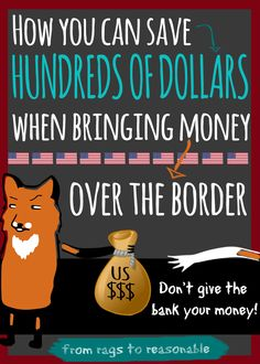For those of you who work in the states, bringing money back to Canada can cost hundreds of dollars in fees. Free Courses, Free Blog, How To Make Money, Finance, Bring It On, Canning, Cool Stuff, Traveling, Canada