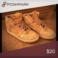 Nike Gold High Top Sneakers Size 7.5 Nike gold high top sneakers. Size 7.5. Nike Shoes Sneakers