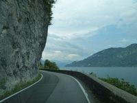 אגם קומו - צולם מהמכונית...