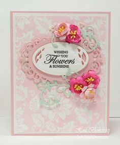 Tutorial Tuesday for JustRite Papercraft - Creative Techniques for Background stamps featuring our Secret Garden Background Stamp