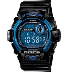 Casio Men's Sport G8900A-1 Black Resin Quartz Watch with Blue Dial Casio. $102.94. Save 21% Off!