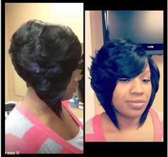 Super Middle Part Bob Middle Parts And Middle On Pinterest Short Hairstyles For Black Women Fulllsitofus
