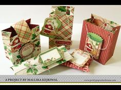 Make an extra small gift bag with Stampin' Up! Gift Bag Punch Board - YouTube