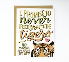 Tiger King Card - Carole Baskin Feed Tigers Card - Joe Exotic - Funny Anniversary Card - Feed You To The Tigers Illustrated Greeting Card King Birthday, Happy Birthday Sister, Happy Birthday Images, Happy Birthday Greetings, Husband Birthday, 30th Birthday, Funny Anniversary Cards, Anniversary Funny, Anniversary Gifts